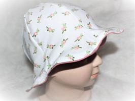 ♥ Sonnenhut weiß / rosa Streublümchen Wunschgröße ♥