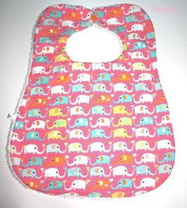 ♥ XL Lätzchen Elefanten rosa - bis 4 Jahre ♥