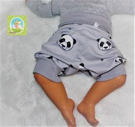 ♥ kurze Jersey Sommer Pumphose Wunschgröße Panda grau ♥