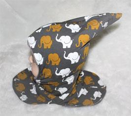 ♥ Zipfel-Schlupf-Mütze Elefanten Gr. 46-50 ♥