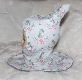 ♥ Zipfel-Schlupf-Mütze Pferde Gr. 46-50 ♥