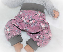 ♥ Babyhose Jersey Wunschgröße Rosen pastell ♥