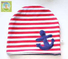 ♥ Mütze Maritim Anker Aufnäher Gr. 46 - 54 ♥