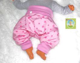 ♥ Babyhose Jersey Wunschgröße rosa Sterne ♥