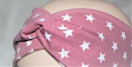 ♥ Stirnband / Haarband Sterne altrosa ♥