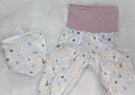 ♥ Babyhose Jersey Gr. 62/68 Schmetterlinge pastell ♥