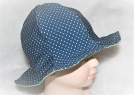 ♥ Sonnenhut Punkte blau / mint Gr. 45-47 ♥