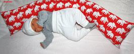 ♥ Lagerungskissen Elefanten rot ♥