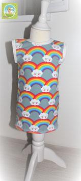 ♥ Babykleid Jersey Wunschgröße Regenbogen ♥