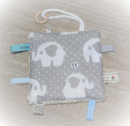 ♥ Knistertuch Love Elephants grau N0378 ♥