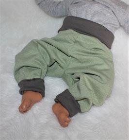 ♥ Babyhose Sweat Nature grün  Gr. 62/68 und 74/80 ♥