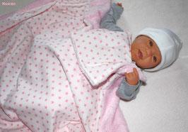♥ Babydecke & Knisterkuscheli Sterne rosa ♥