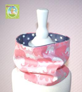 ♥ Frühjahr / Sommer Loop Elefanten rosa grau Wunschgröße ♥