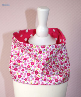 ♥ Frühjahr / Sommer Loop Streublümchen Punkte pink Wunschgröße ♥