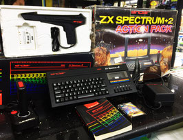 SINCLAIR ZX SPECTRUM +2 128K ACTION PACK + CAVO VIDEO / AUDIO RGB SCART