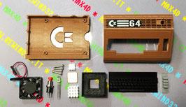 KIT COMPLETO COMMODORE 64 C64 CASE SHELL SCOCCA STAMPATA IN 3D PER RASPBERRY