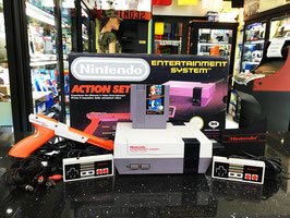 NINTENDO NES ACTION SET ZAPPER 1985 + SUPER MARIO BROS + DUCK HUNT CON IMBALLO CON 1 ANNO DI GARANZIA