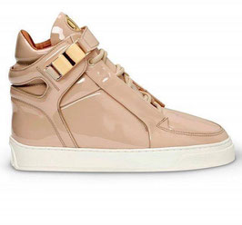 LEANDRO LOPES HIGH TOP MOSH NUDE HANDMADE SNEAKERS