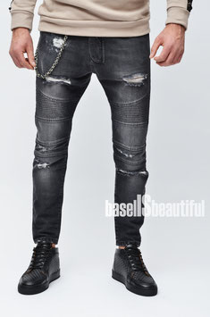 JEANS LOOSE FIT DESTROYED GRAUSCHWARZ DIEGO RODRIGUEZ 100% MADE IN ITALY