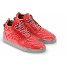 LETZTE GELEGENHEIT | LEANDRO LOPES MID TOP FAISCA CORAL RED MIT GRAUER SOHLE