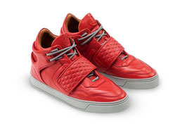 LETZTE GELEGENHEIT | LEANDRO LOPES 3.0 MID TOP CORAL RED MIT GRAUER SOHLE