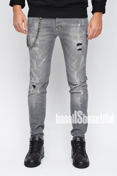 JEANS STRETCH DESTROYED HELLBLAU PRIMO EMPORIO 100% MADE IN ITALY