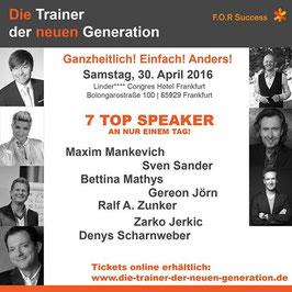 Online-Ticket     2 Tage Inspiration, Motivation und Spaß  mit mehr als 15 Sprechern!