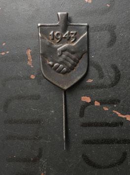 """Знак 1943 год """" Помощь Армии """" , Финляндия ."""