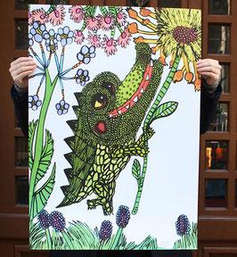 Poster mit Krokodil