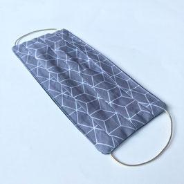 Maske09 Cubic grau