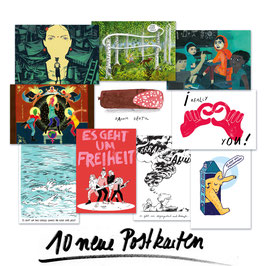 10 Postkarten im Set