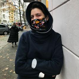 Maske13 Früchte auf Schwarz