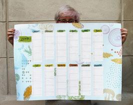 Anjas Einblattkalender 2017