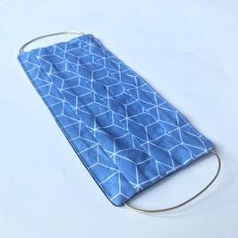 Maske08 Cubic blau