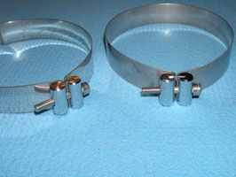 Edelstahl Schellensatz für Doppel 5, 6 und 7L Tauchflaschen