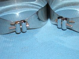 Edelstahl Schellensatz für Doppel 10 und 8L Tauchflaschen