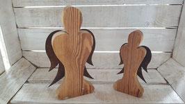 Engel aus Holzbrettern mit Rostflügel