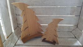 Holztannenbaum vom Winde verweht