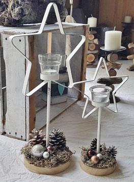 Teelichthalter Stern Gesamthöhe 34 cm