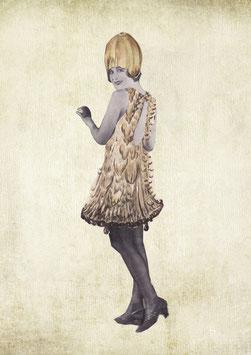 Collage Pilz-Girl