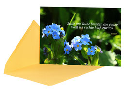 "Postkarte "" inneres Gleichgewicht"" mit Kuvert Bp0013"