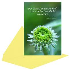 "Postkarte  ""Glaube an die eigene Kraft""  mit Kuvert Bp0012"