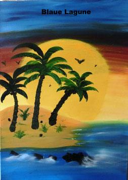 Palmengruß und Blaue Lagune