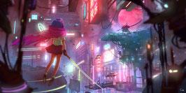 Tableau Cyberpunk Animé style