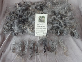 Gray yearling mohair