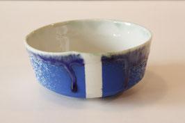 Bol bleu-goutte, série Enogu