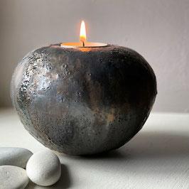 tea light sphere - volcanic bronze