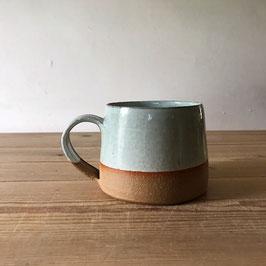 mug - half glazed duck egg blue