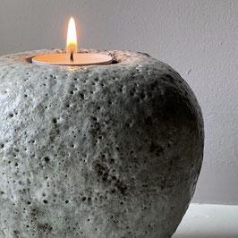 tea light sphere cratered glaze