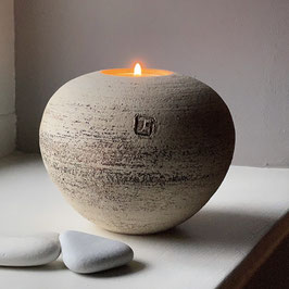 tea light sphere - textured surface